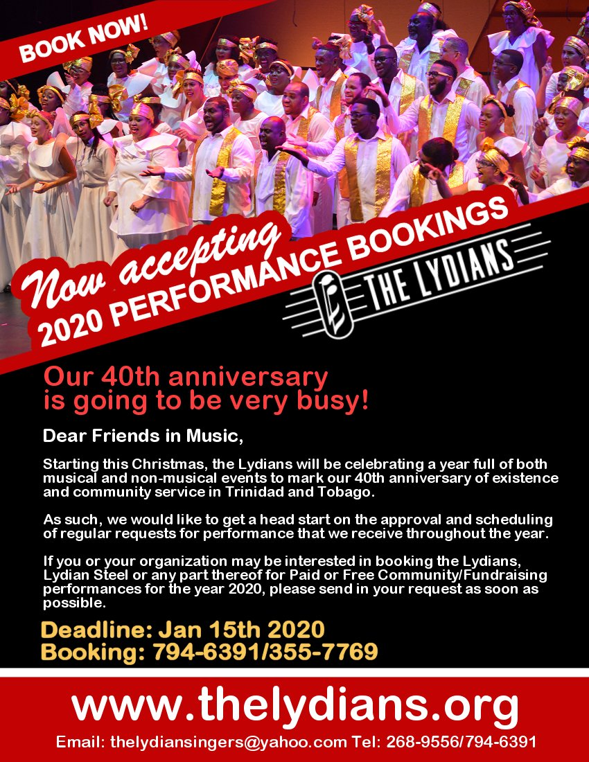Book a performance with The Lydians