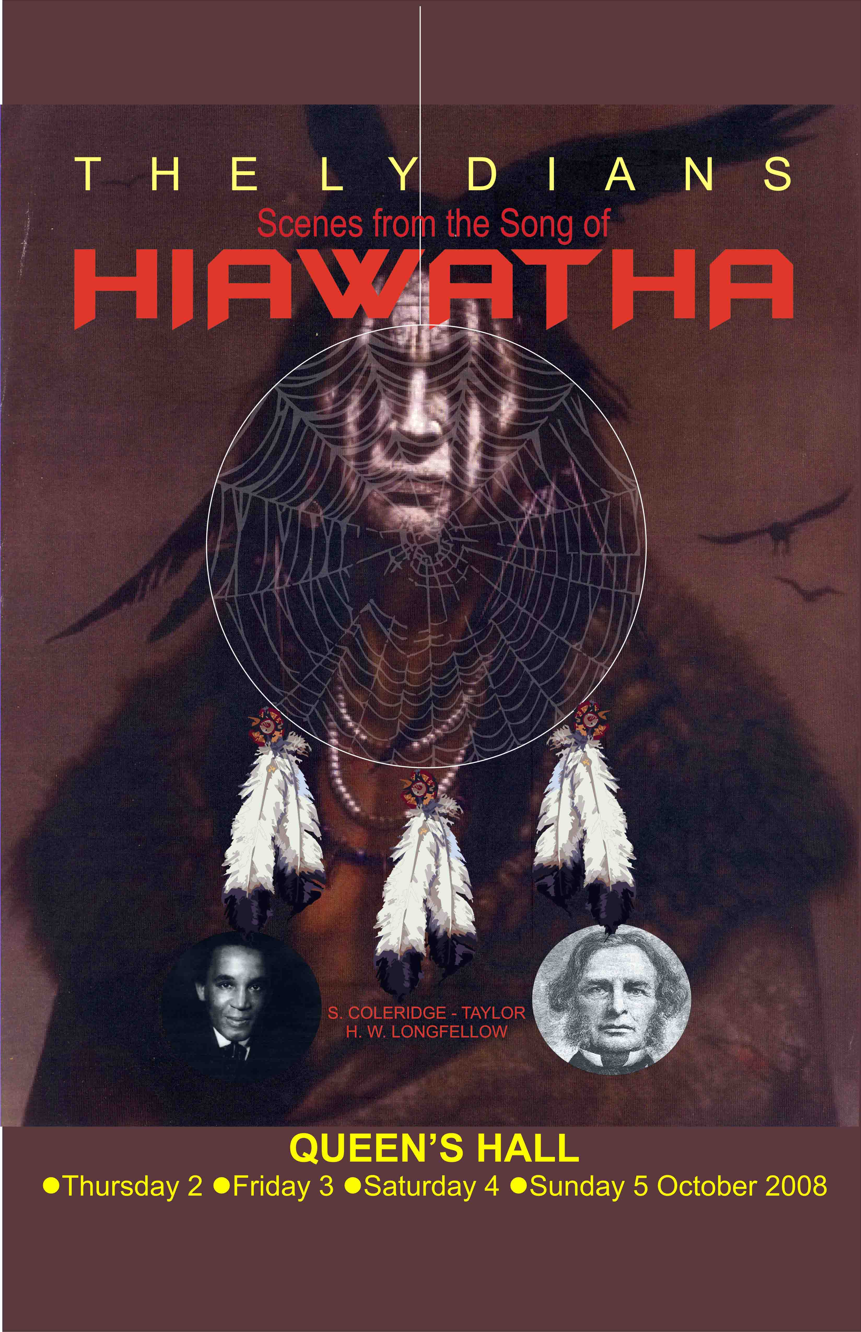 The Lydians programme cover Hiawatha by Coleridge-Taylor, 2008