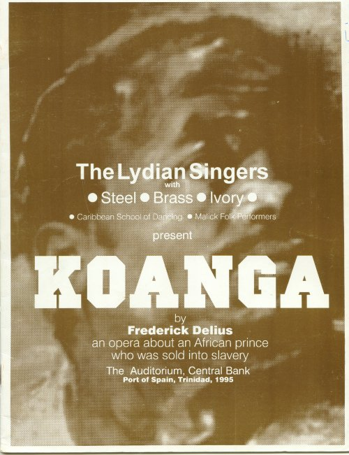 The Lydians programme cover Koanga by Delius, 1995
