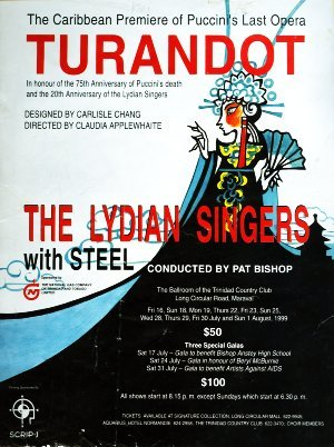 The Lydians programme cover Turandot by Pucinni, 1999